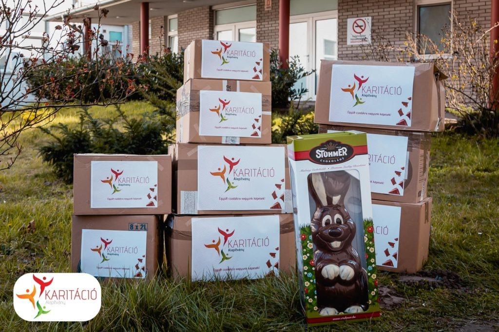 Karitáció Alapítvány adományátadás - több száz csomag különleges desszert meglepetés
