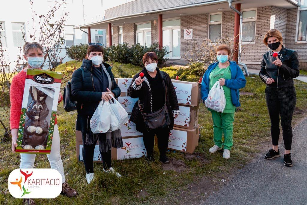 Karitáció Alapítvány adományátadás - Szegedi Tudományegyetem Járványügyi ellátó Központ COVID Osztályának
